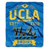 "UCLA Bruins 50""x60"" Royal Plush Raschel Throw Blanket -  Label Design"