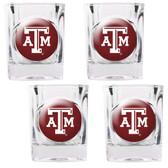 Texas A & M Aggies 4pc Square Shot Glass Set