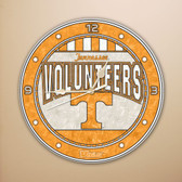 "Tennessee Volunteers 12"" Art Glass Clock"