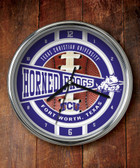 TCU Horned Frogs Chrome Clock