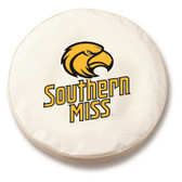 Southern Miss Golden Eagles White Tire Cover, Small