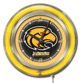 Southern Miss Golden Eagles Neon Clock