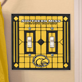 Southern Miss Golden Eagles Double Lightswitch Cover
