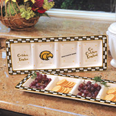 Southern Miss Golden Eagles Ceramic Relish Tray