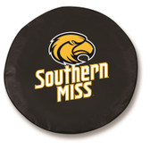 Southern Miss Golden Eagles Black Tire Cover, Small