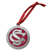 """South Carolina Gamecocks """"SC"""" Logo Ornament"""