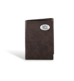 South Carolina Fighting Gamecocks Leather Wrinkle Brown Trifold Wallet