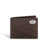 South Carolina Fighting Gamecocks Leather Wrinkle Brown Passcase Wallet