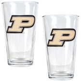 Purdue Boilermakers 2pc Pint Ale Glass Set