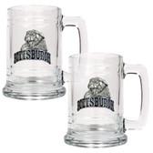 Pittsburgh Panthers 2pc Glass Tankard Set