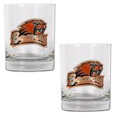 Oregon State Beavers 2pc Rocks Glass Set