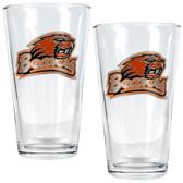 Oregon State Beavers 2pc Pint Ale Glass Set