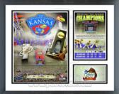 Kansas Jayhawks 2008 NCAA Champions Milestones & Memories Framed Photo