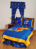 Kansas Bed in a Bag Twin - With Team Colored Sheets
