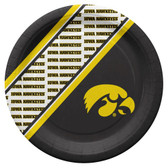 Iowa Hawkeyes Disposable Paper Plates