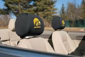 Iowa Hawkeyes   Headrest Covers Set Of 2