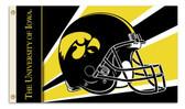 Iowa Hawkeyes   3 Ft. x 5 Ft. Flag w/Grommets - Helmet Design