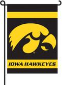 Iowa Hawkeyes   2-Sided Garden Flag Set w/ #11213 Garden Pole