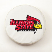 Illinois State Redbirds White Tire Cover, Small