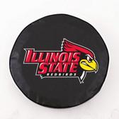 Illinois State Redbirds Black Tire Cover, Small