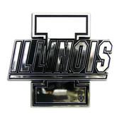 Illinois Fighting Illini Silver Auto Emblem