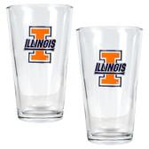 Illinois Fighting Illini 2pc Pint Ale Glass Set