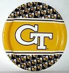 "Georgia Tech Yellow Jackets 9"" Dinner Paper Plates"