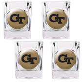 Georgia Tech Yellow Jackets 4pc Square Shot Glass Set
