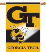 "Georgia Tech Yellow Jackets 2-Sided 28"" x 40"" Banner w/ Pole Sleeve"