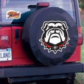 Georgia Bulldogs Black Tire Cover, Large TCBKGeorgiaBullDogLG