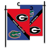 Georgia - Florida 2-Sided Garden Flag - Rivalry House Divided