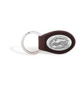 Florida Gators Brown Leather Key Chain