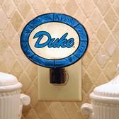 Duke Blue Devils Art Glass Nightlight