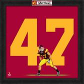 Clay Matthews USC Trojans 20x20 Framed Uniframe Jersey Photo