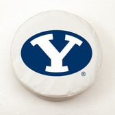 Brigham Young Cougars White Tire Cover, Large