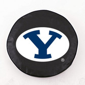 Brigham Young Cougars Black Tire Cover, Large