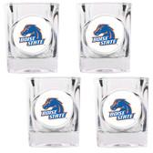 Boise State Broncos 4pc Square Shot Glass Set