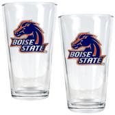 Boise State Broncos 2pc Pint Ale Glass Set