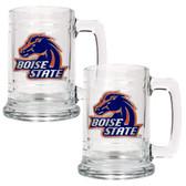 Boise State Broncos 2pc Glass Tankard Set