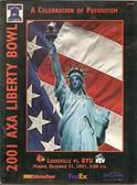 Axa Liberty Bowl Program Louisville vs. BYU - 2001