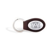Auburn Tigers Brown Leather Key Chain