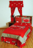Arkansas Bed in a Bag Queen - With Team Colored Sheets