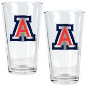 Arizona Wildcats 2pc Pint Ale Glass Set