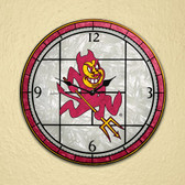 "Arizona State Sun Devils 12"" Art Glass Clock"