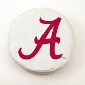 Alabama Crimson Tide White Tire Cover, Small
