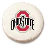 Ohio State Buckeyes White Tire Cover, Small