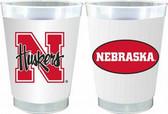 Nebraska Cornhuskers 10 oz. Frosted Cups