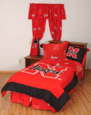 Nebraska Bed in a Bag King - With Team Colored Sheets