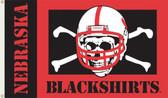 Nebraska (Blackshirts) 3 Ft. x 5 Ft. Flag w/Grommets
