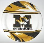 """Missouri Tigers 9"""" Dinner Paper Plates"""
